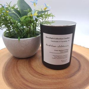Homemade Dark Rose + Labdanum Candle Coconut Wax